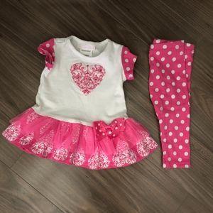 Bonnie Baby Polka Dot Shirt & Pant Set Girls 3-6M